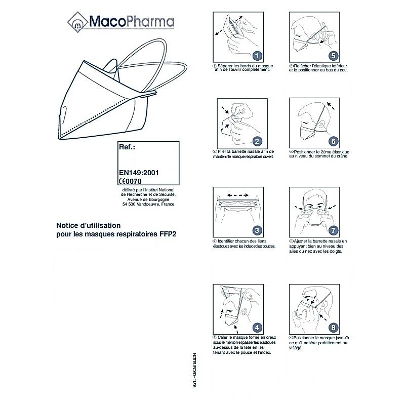 Masque FFP2 Bec de Canard - Macopharma - Unitaire
