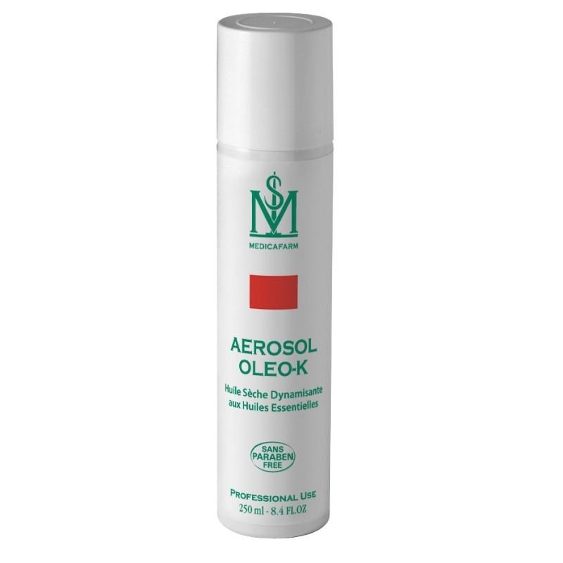 Huile Huile sèche Oleo K - Aux Huiles essentielles - Medicafarm - Aérosol 250 ml