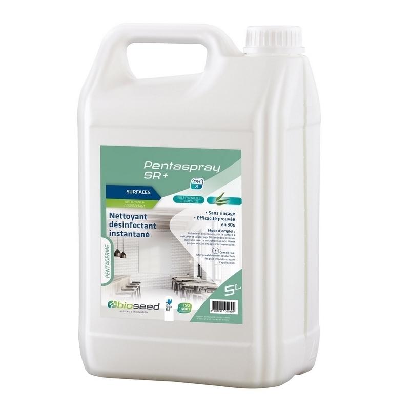 Désinfection du matériel Pentaspray SR+ - Nettoyant & désinfectant surfaces - Flacon 5 L