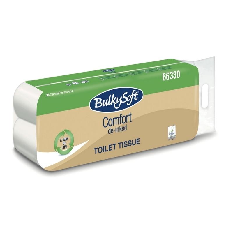 Papier hygiénique Papier toilette Comfort BulkySoft - Ecolabel 160 feuilles 2 plis - Ballot de 10 rouleaux