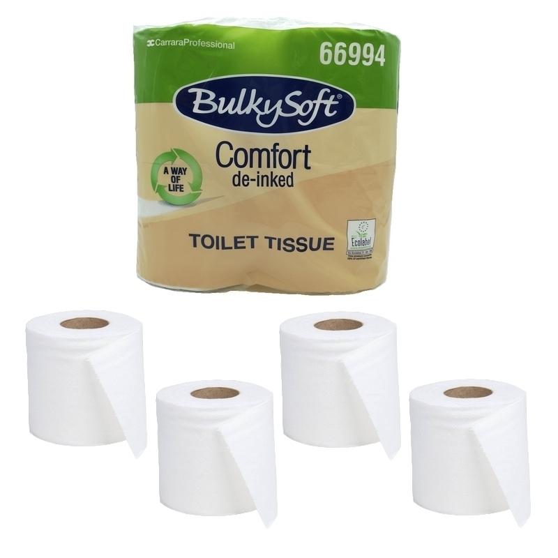 Papier hygiénique Papier toilette Comfort BulkySoft - Ecolabel 500 feuilles 2 plis - Ballot de 4 rouleaux