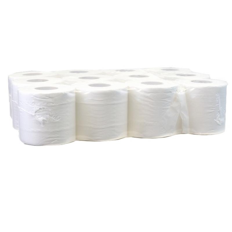 Papier hygiénique Papier toilette Maxi Compact - 500 feuilles 2 plis - Ballot de 12 rouleaux