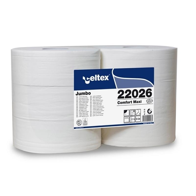 Papier hygiénique Papier hygiénique Maxi Jumbo - Celtex 22026 - Ballot de 6 rouleaux