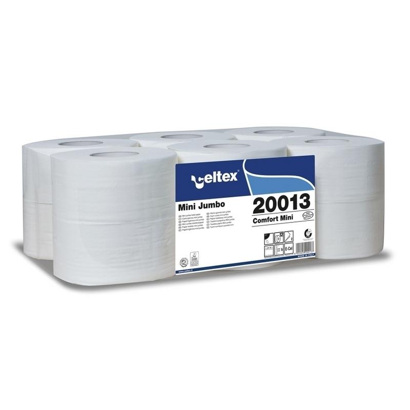 Papier hygiénique Papier hygiénique Mini Jumbo - Celtex 20013 - Ballot de 12 rouleaux