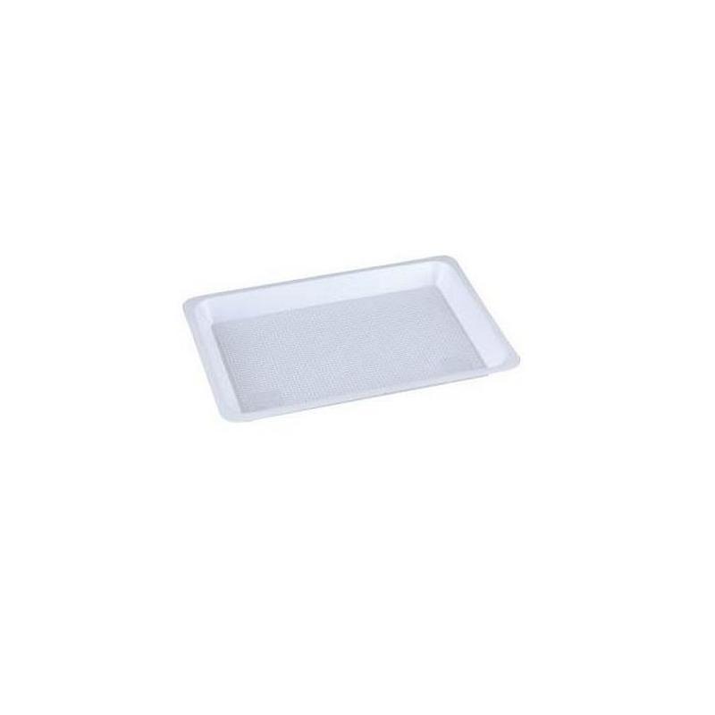 Plateaux et boîtes plastiques Plateaux blancs jetables sans compartiment - Plusieurs tailles - Carton de 400