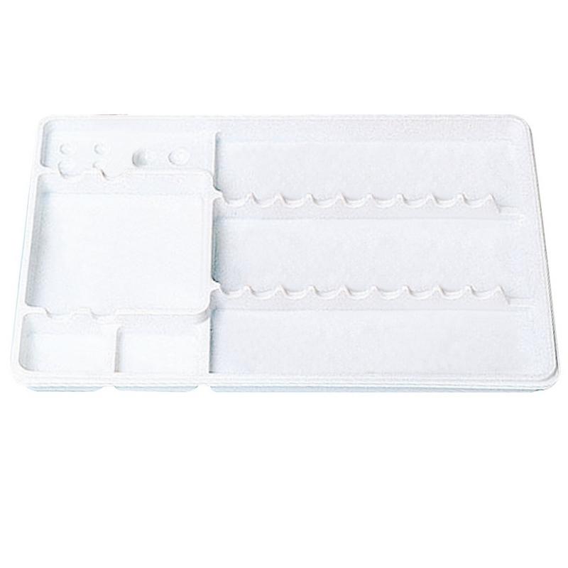 Plateaux et boîtes plastiques Plateaux blancs compartimentés - 28 x 18 cm - Carton de 400