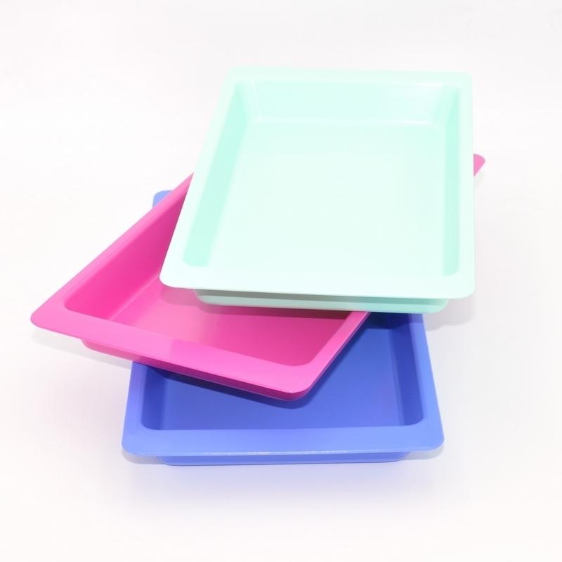 Plateaux et boîtes plastiques Plateaux de soins Hartmann - Autoclavable - Unitaire - Vert rose ou bleu
