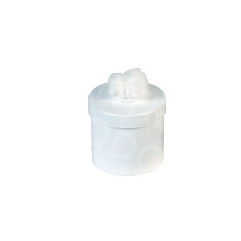 Coton Pot à coton - Blanc - 10 cm x 10 cm