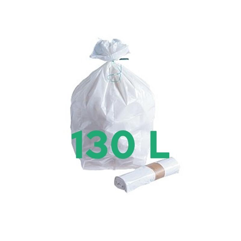 Sacs poubelle Sac poubelle blanc 130 litres - Carton de 200
