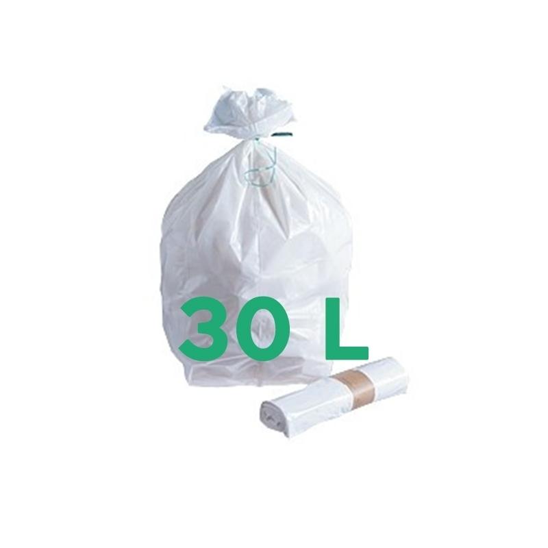 Sacs poubelle Sac poubelle blanc 30 litres - Carton de 500 ou 1000