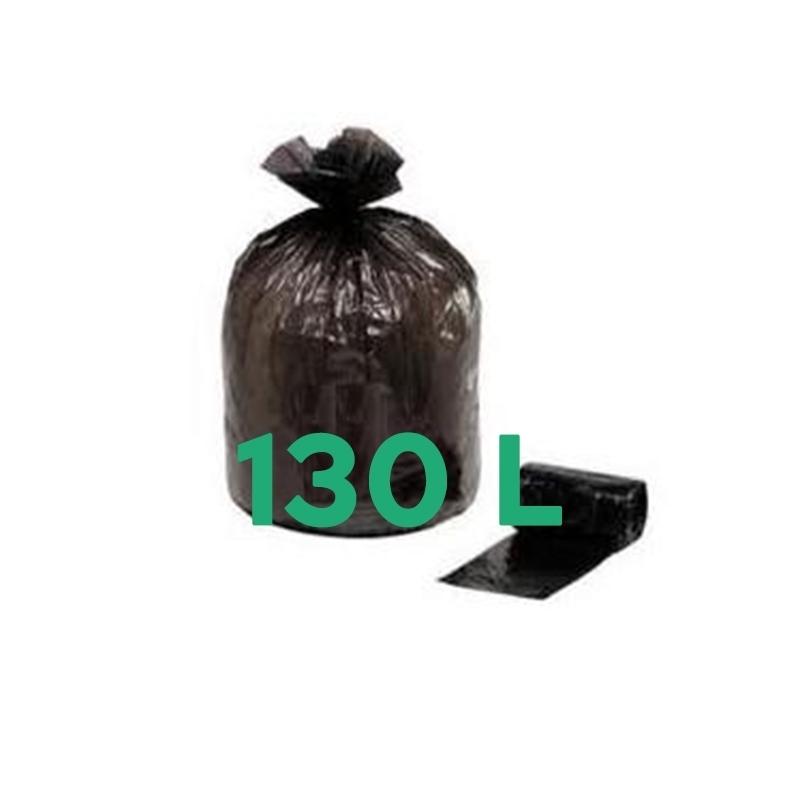 Sacs poubelle Sac poubelle noir 130 litres -  Carton de 200