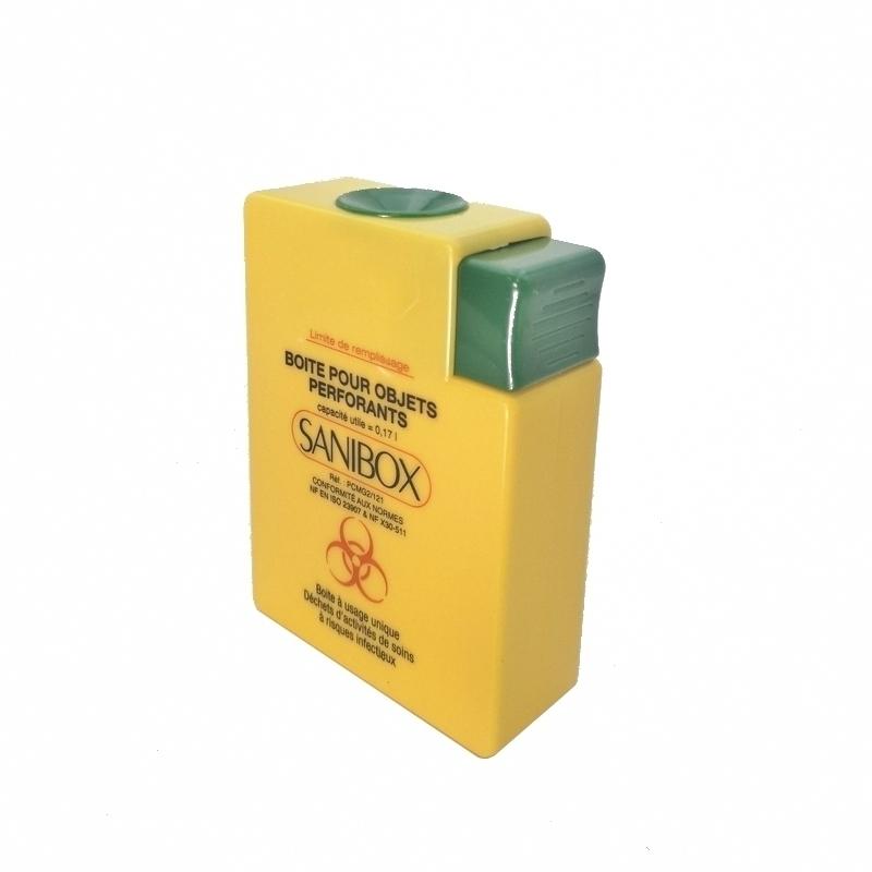 Collecteur de déchets Collecteur Sanibox - Pour objets perforants - 0,17 litre