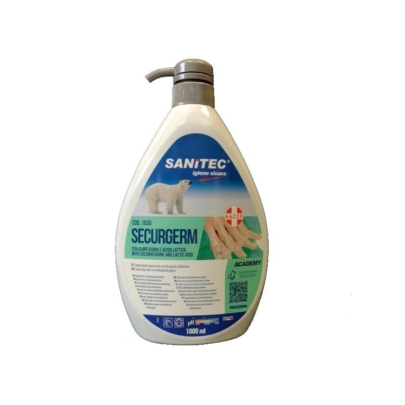 Savon mains Savon liquide Securgem - Antibactérien - Flacon 1 L