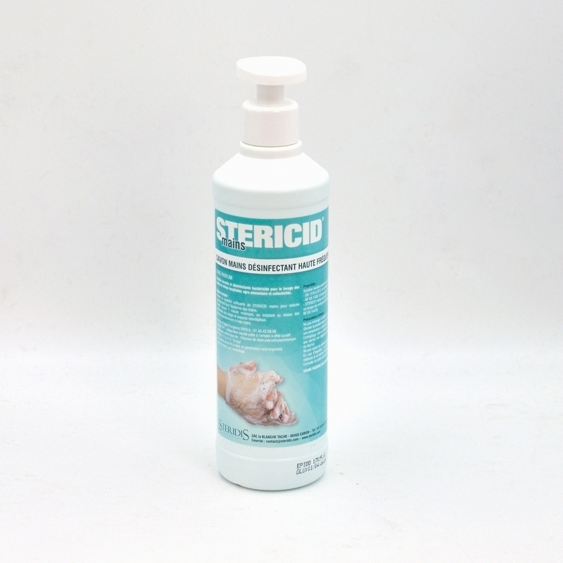 Savon mains Savon main désinfectant - Stericid -  Flacon de 500 ml