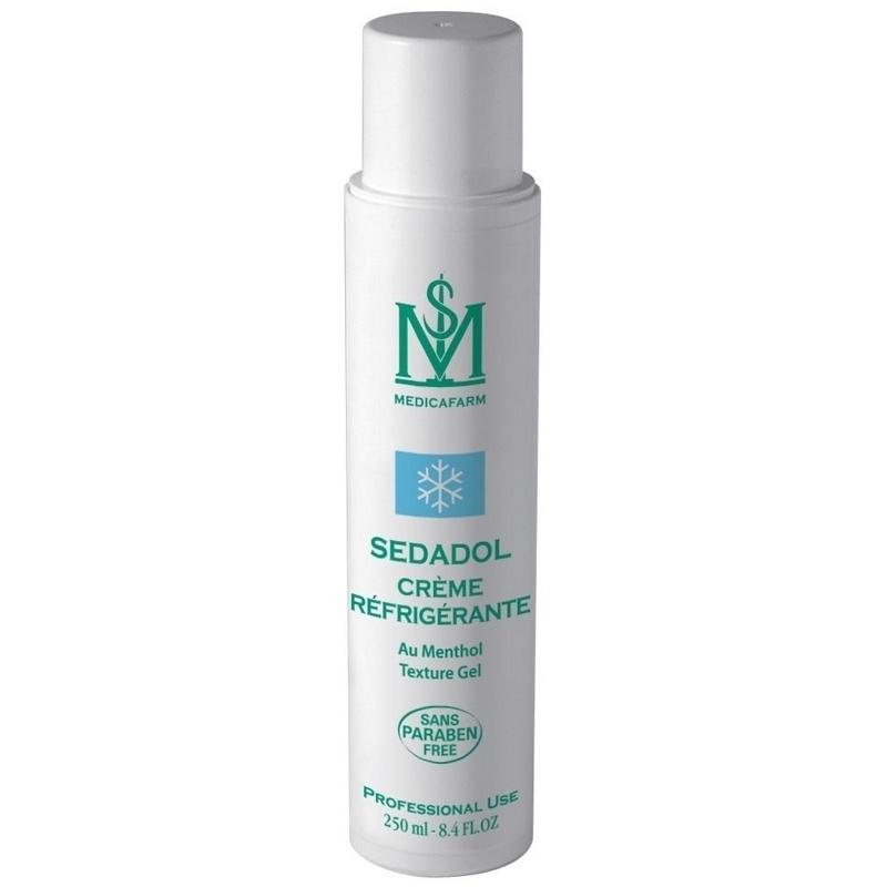 Gel froid Crème réfrigérante Sedadol - Au Menthol - Medicafarm - Flacon 250 ml