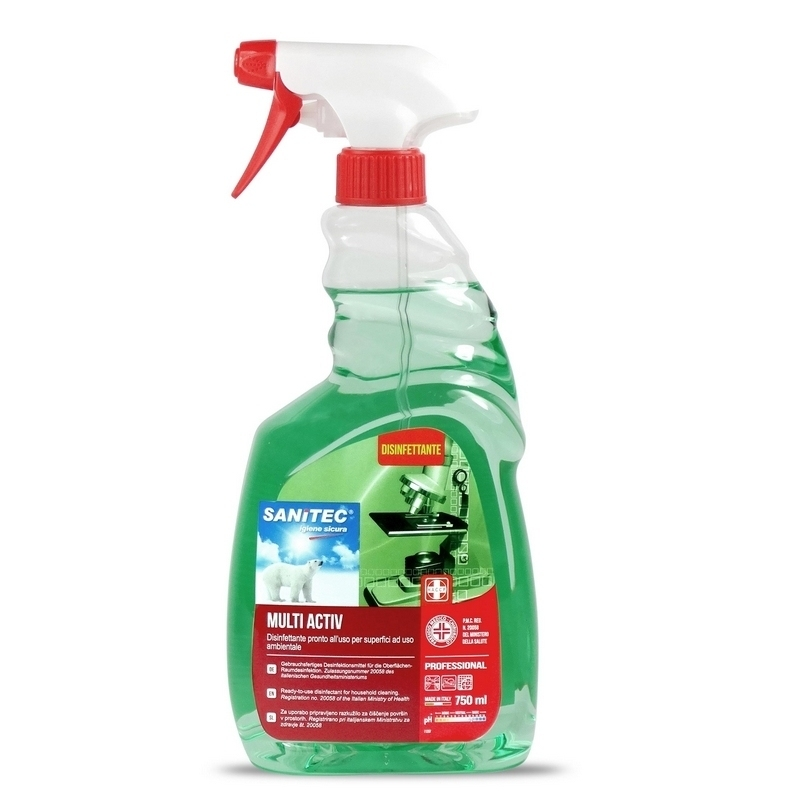 Toutes les promotions Multi Activ Sanitec - Spray désinfectant surfaces - Flacon 750 ml