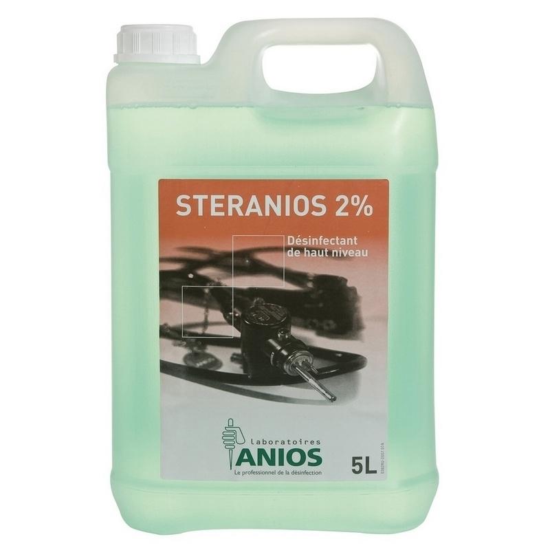 Désinfection du matériel Stéranios 2% - Désinfectant total à froid - Bidon de 5 Litres