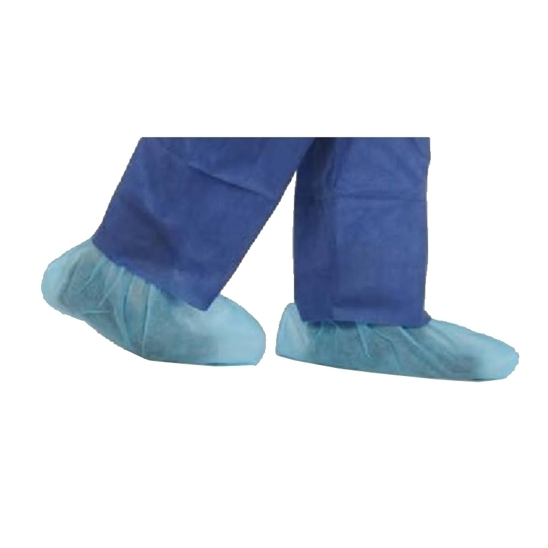 Tablier / Manchette / Surchaussure Surchaussure plastifiée bleue - Medistock - Sachet de 100
