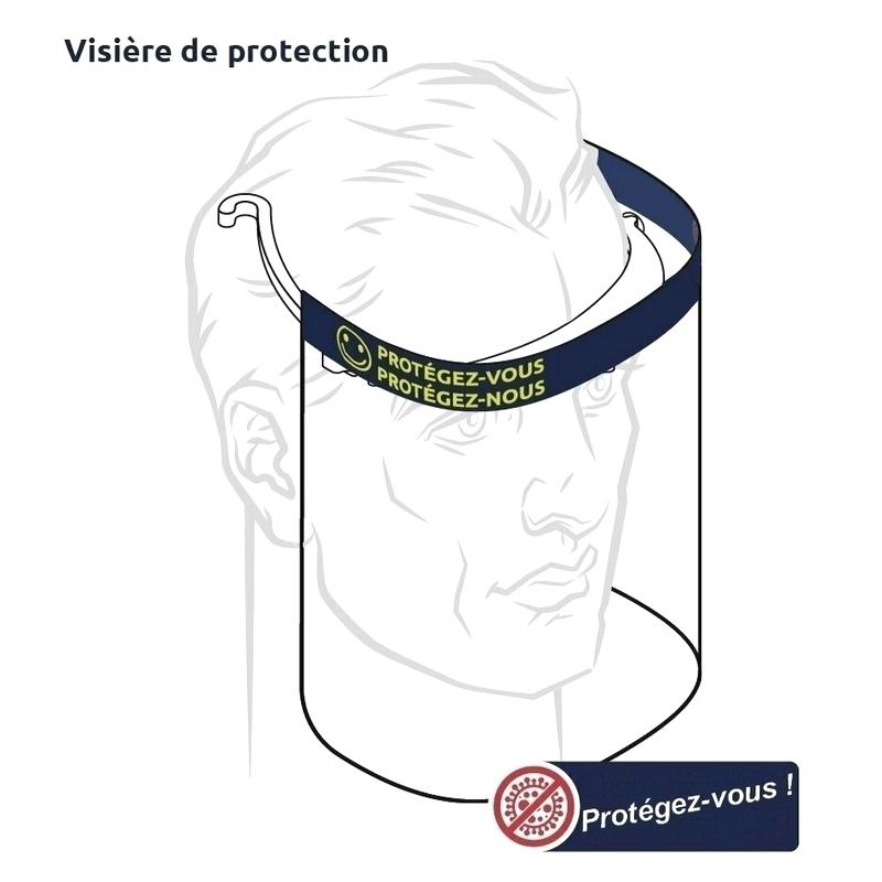 Masque Visière avec écran de protection - Taille unique